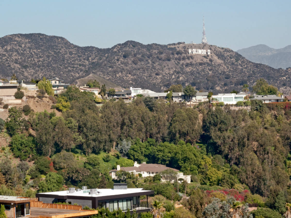 The Hollywood Sign as seen from the trail in Runyon Canyon Park. (wikipedia.com)