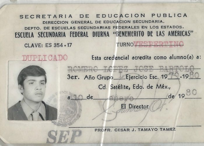 My father's school ID