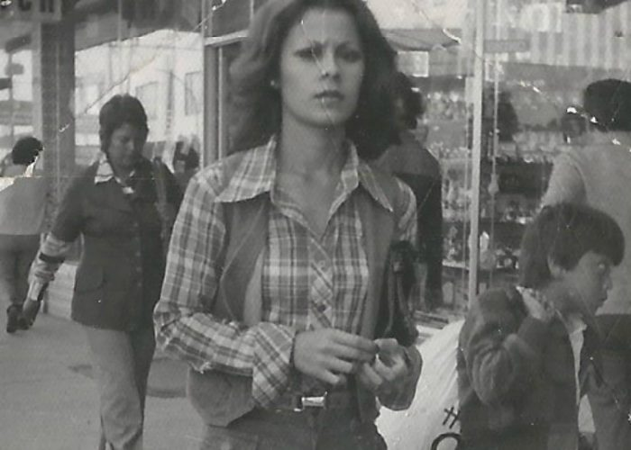 My mother walking down the streets of Tijuana taken in 1978