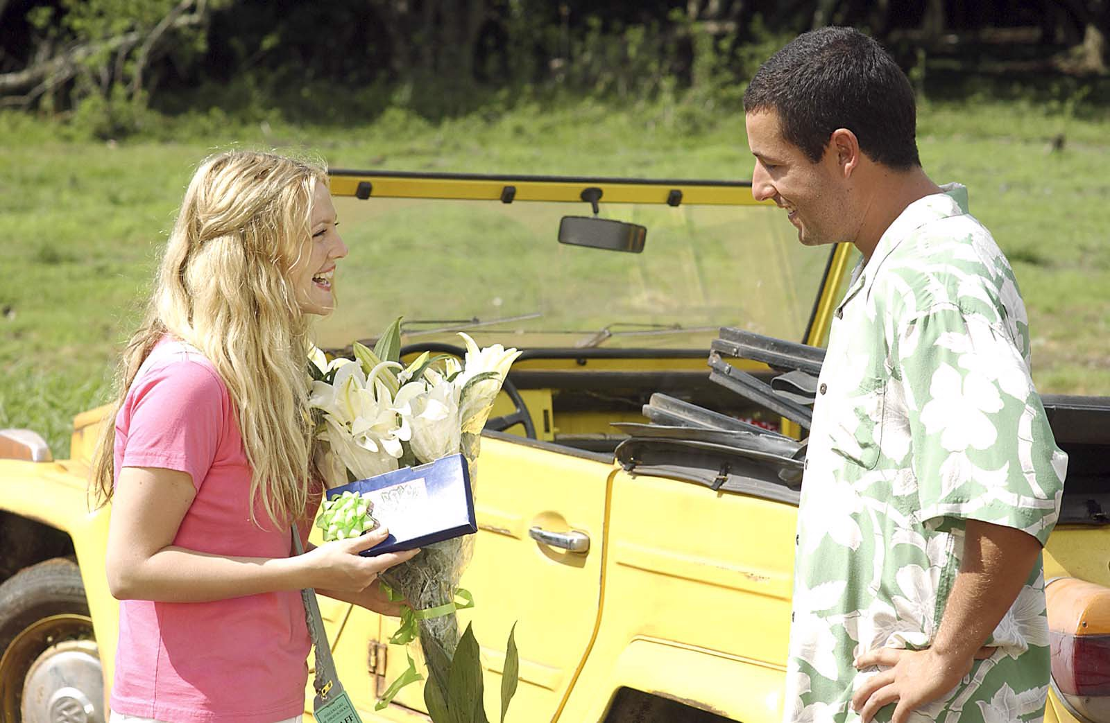 "Drew Barrymore and Adam Sandler star in Columbia Pictures romantic comedy ""50 First Dates."""