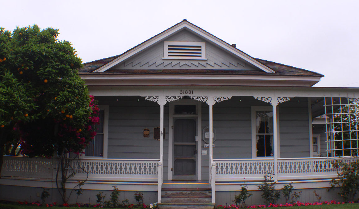The Garcia/Pryor residence, now known as the O'Neill Museum, was built between 1870 and 1880 by Jose Garcia, a saloon owner, for his wife, Refugio Yorba.