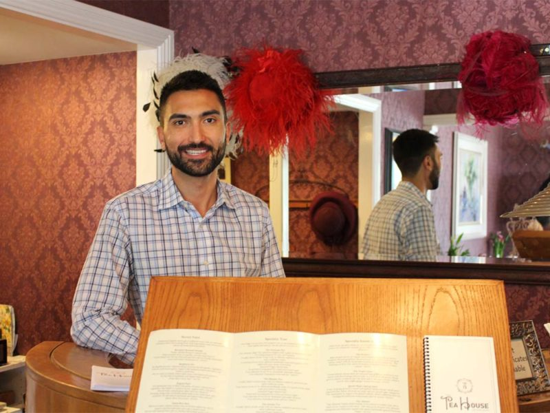 Damian Niccola, present owner and manager of the tea house. (Celeste Espinoza)