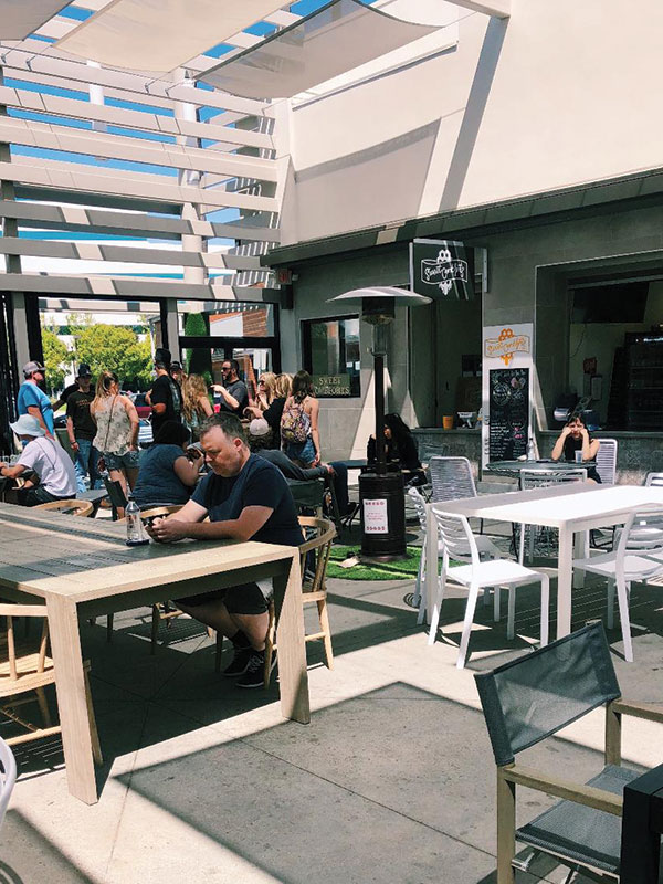 Trade Food Hall in Irvine offers concept food in a casual and comfortable setting. (Kristin Torres)